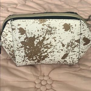 Neiman Marcus cosmetic bag - gold splatters new